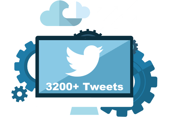 More than 3200 tweet of any twitter account